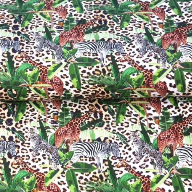 Katoen-Jungle Print