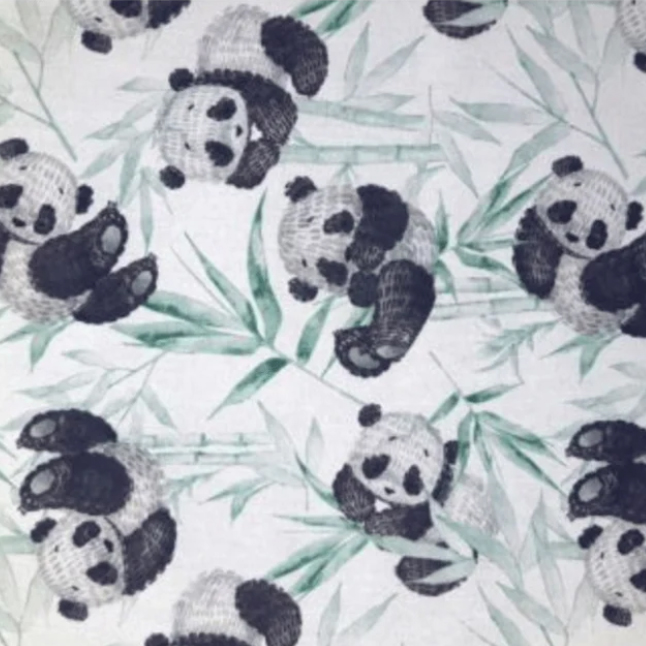Katoen-Panda Oud Groen