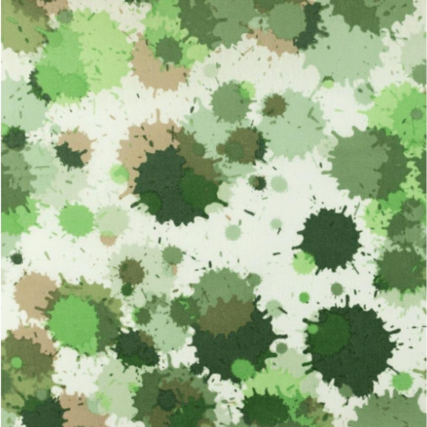Katoen - Aquarel Groen