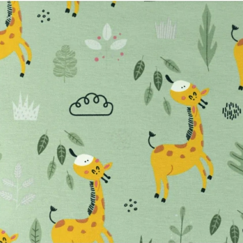 Katoen - Giraffe Groen